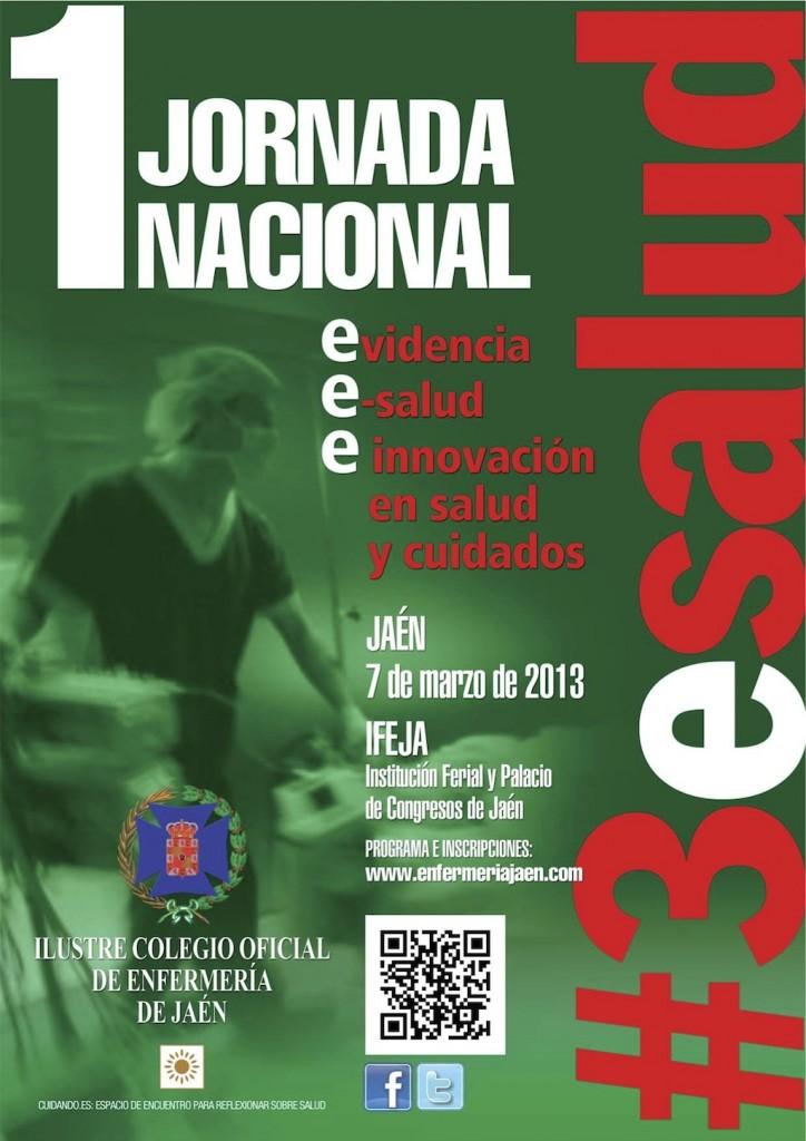 Cartel de Jornadas nacionales de enfermería