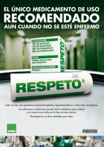 """Cartel """"Respeto"""", elaborado por SATSE"""