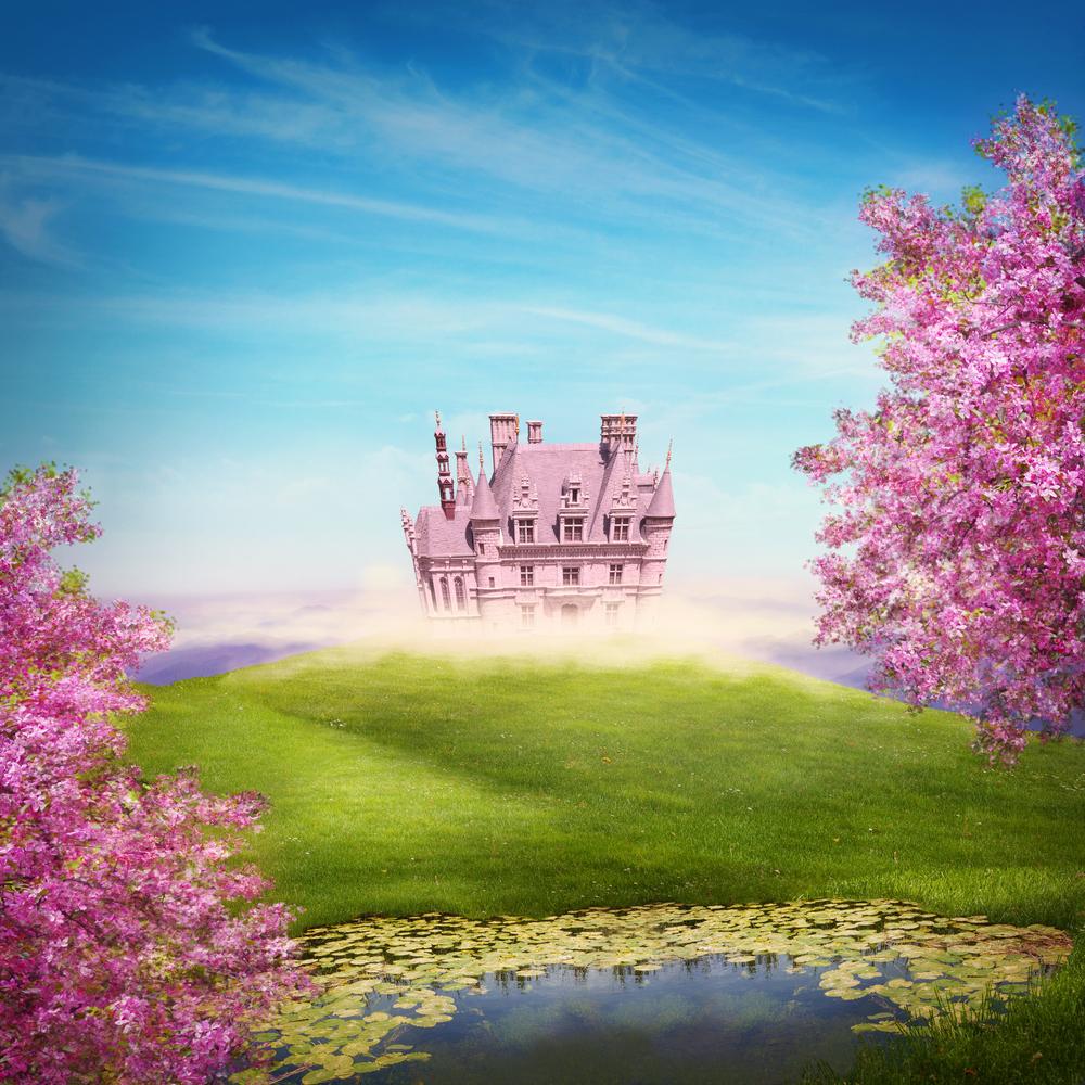 Fairy tale landscape with castle by Shutterstock