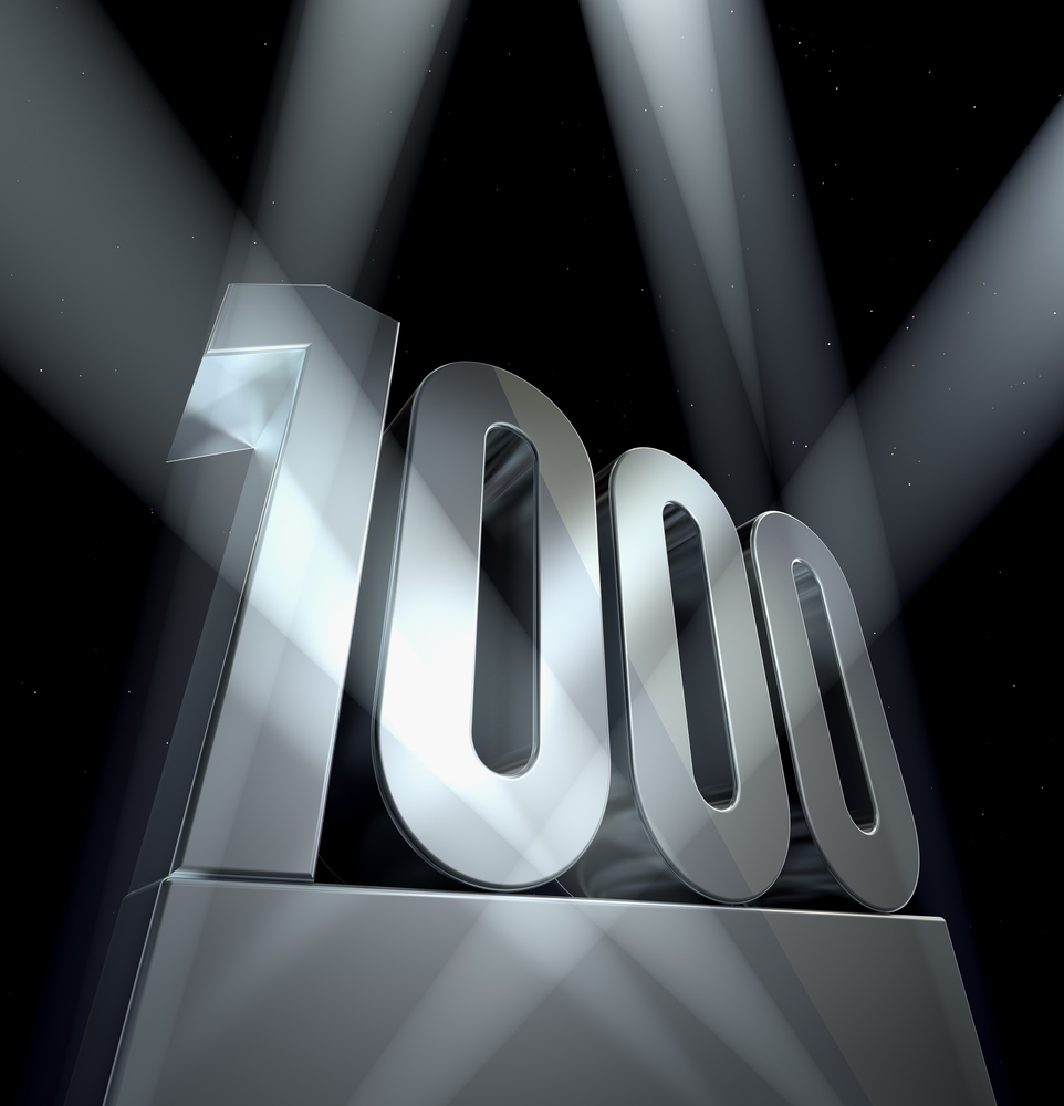 Number 1000 by Shutterstock